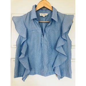Sweet Wanderer Ruffle Crop Blouse